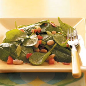 Spinach and Chick Pea mix